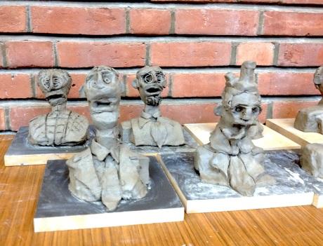 skulpturverksted med 5 og 6 klassinger, DKS, Vigelandsmuseet høsten 2012